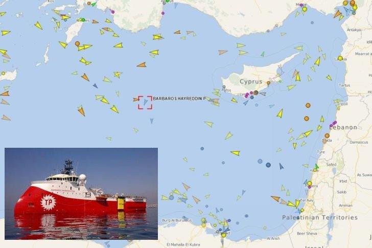 Photo of Το Μπαρμπαρός στην κυπριακή ΑΟΖ συνοδευόμενο από τουρκικά πολεμικά πλοία