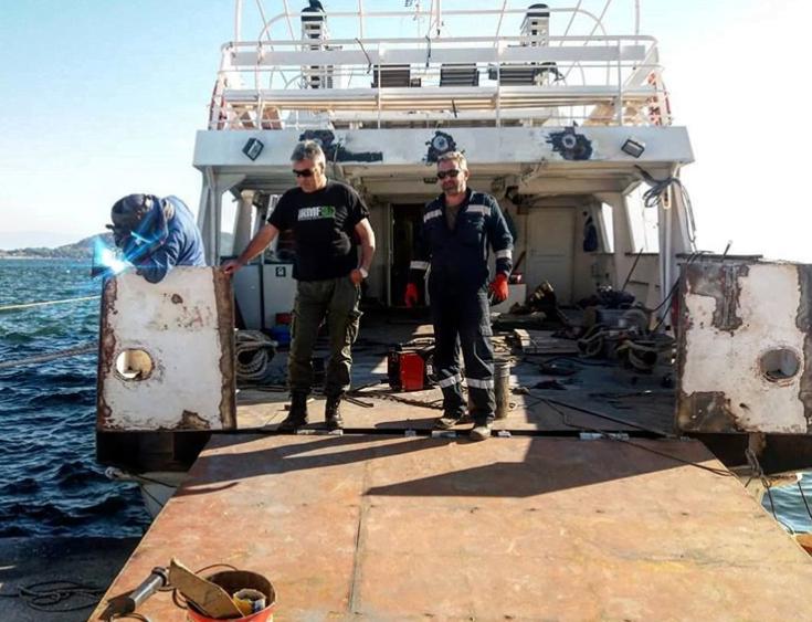 Photo of Αυτο ειναι το πλοίο για τη μόνιμη γραμμή στα Διαπόντια …Κόπηκε και θα χωράει 2,5 αμάξια!!!!