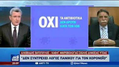 Photo of Με μια απλή γρίπη τρομοκρατούν το κόσμο…Βατόπουλος : Δεν συντρέχει λόγος Πανικού (video)