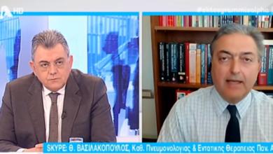 Photo of 13 φορές πιο πιθανό να κολλήσουμε με υφασμάτινη μάσκα δήλωσε ο Καθηγητής Πνευμολογίας κ.Βασιλακόπουλος(video)