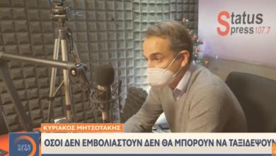 Photo of O Μητσοτάκης ΑΠΕΙΛΕΙ τους Ελληνες: Οσοι δεν κάνουν το εμβόλιο δεν θα ταξιδεύουν..(Video)