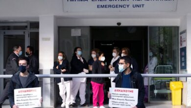 Photo of Στο Δρόμο οι Εργαζόμενοι στον Ευαγγελισμό για προσλήψεις.Για το εμβόλιο μούγγα!!