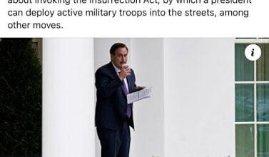 Photo of 4 Χρόνια ακόμη με Τράμπ με επιβολή του Στρατιωτικού Νόμου?