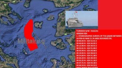 Photo of Η Τουρκία βγάζει το ωκεανογραφικό «Τσεσμέ» στο Αιγαίο..Υπάρχει Κυριαρχία? Θα δείξει….