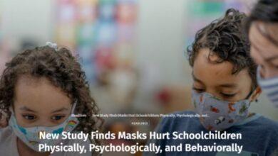 Photo of Μελέτη αποδεικνύει ότι η μάσκα βλάπτει τους μαθητές: σωματικά, ψυχολογικά και συμπεριφορικά.